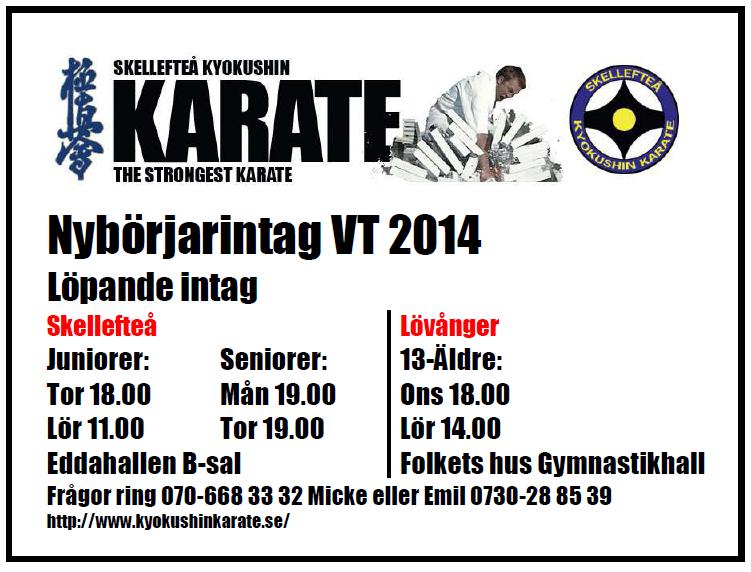 Nybörjarstart VT 2014